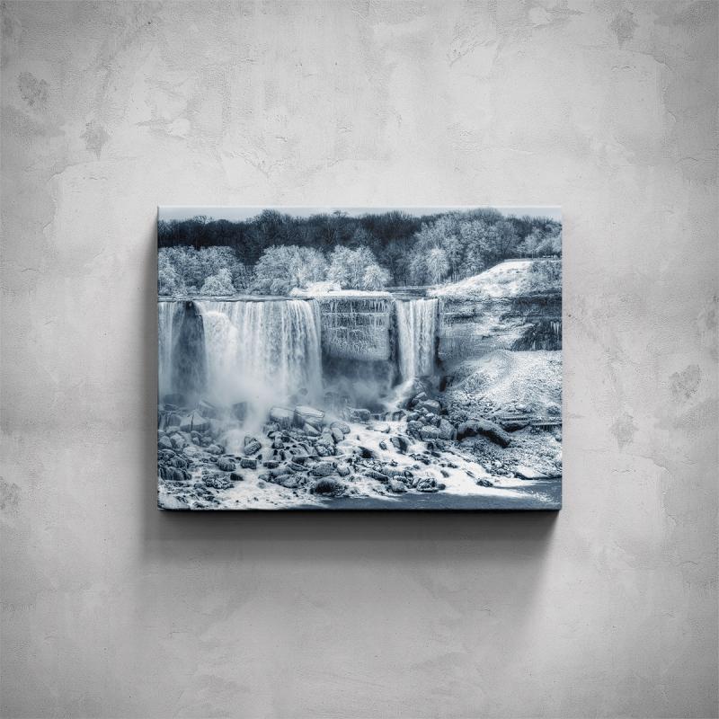 Obrazy - Obraz - Zimní vodopád
