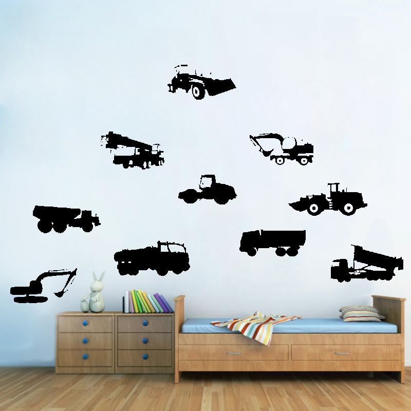 Samolepky na zeď - Samolepka na zeď - Stavební auta