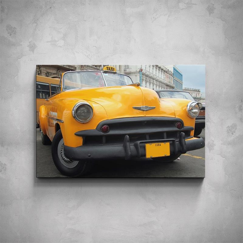 Obrazy - Obraz - Kubánské žluté taxi