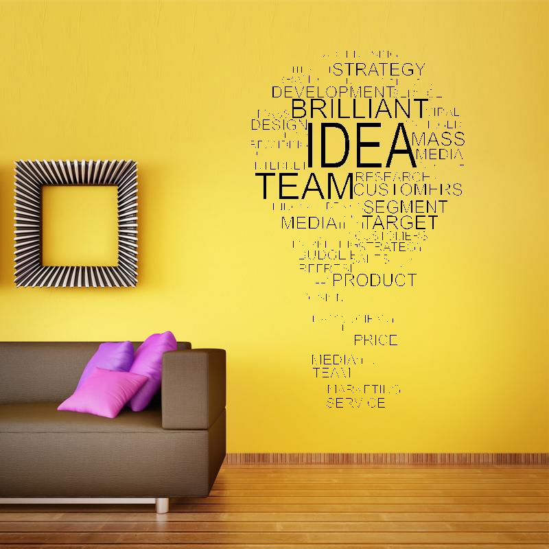 Samolepky na zeď - Samolepka na zeď - Žárovka z textu