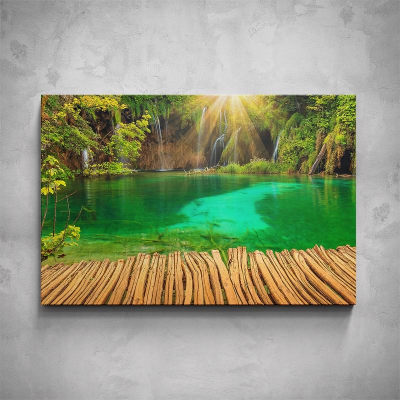 Obrazy - Obraz - Zelené jezírko