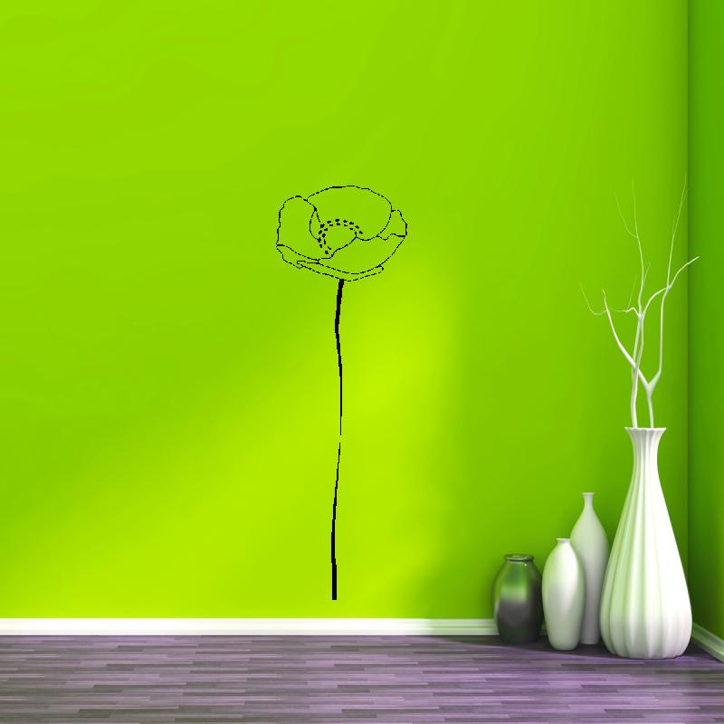 Samolepky na zeď - Samolepka na zeď - Vlčí mák 1+1 zdarma