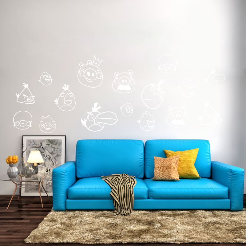 Samolepky na zeď - Samolepka na zeď - Angry Birds