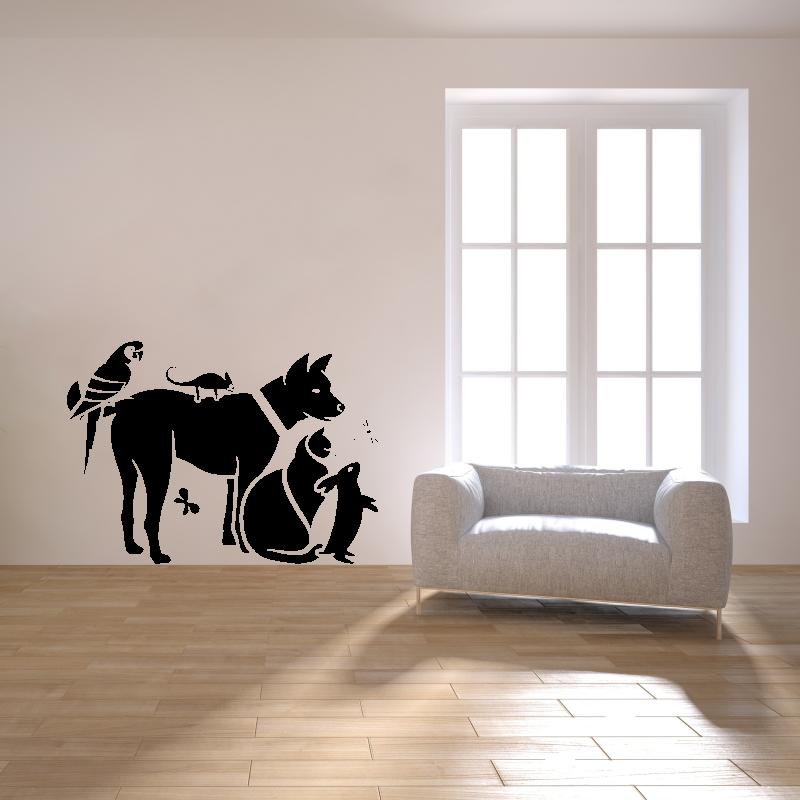Samolepky na zeď - Samolepka na zeď - Domácí mazlíčci