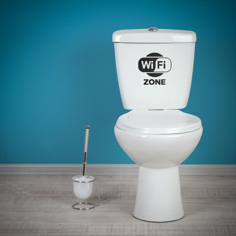 Samolepky na WC - Samolepka na WC - WiFi zóna