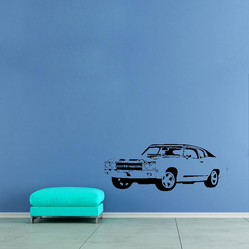 Samolepky na zeď - Samolepka na zeď - Staré závodní auto