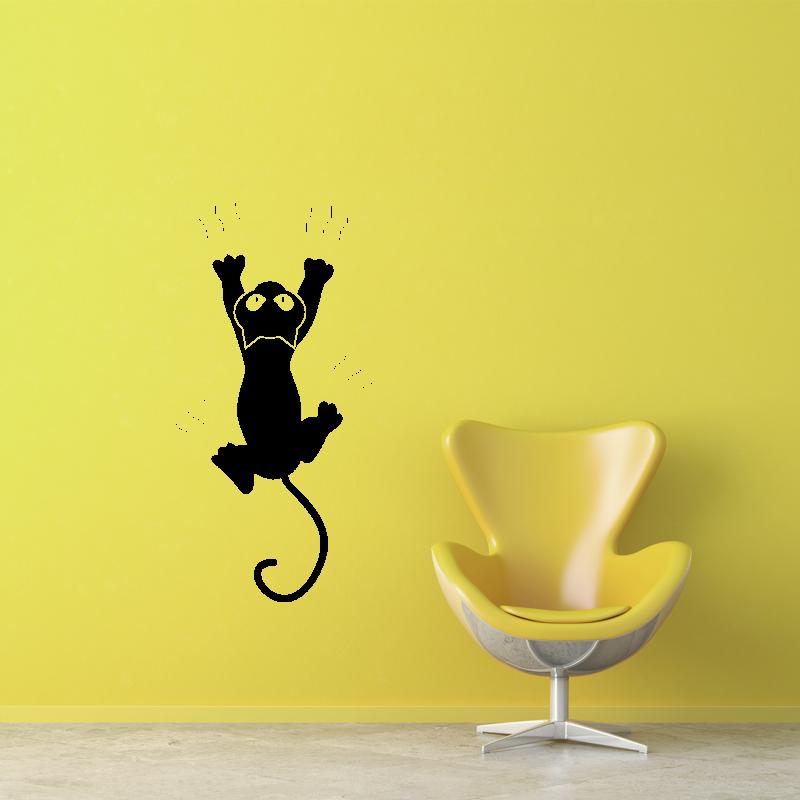 Samolepky na zeď - Samolepka na zeď - Škrábající kočka