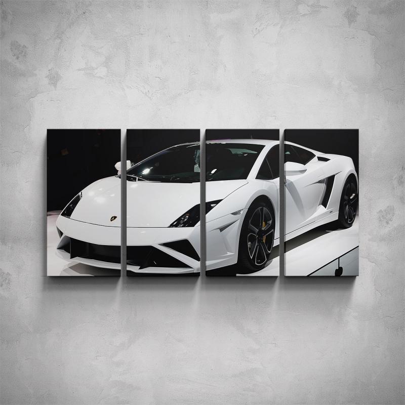 Obrazy - 4-dílný obraz - Lamborghini