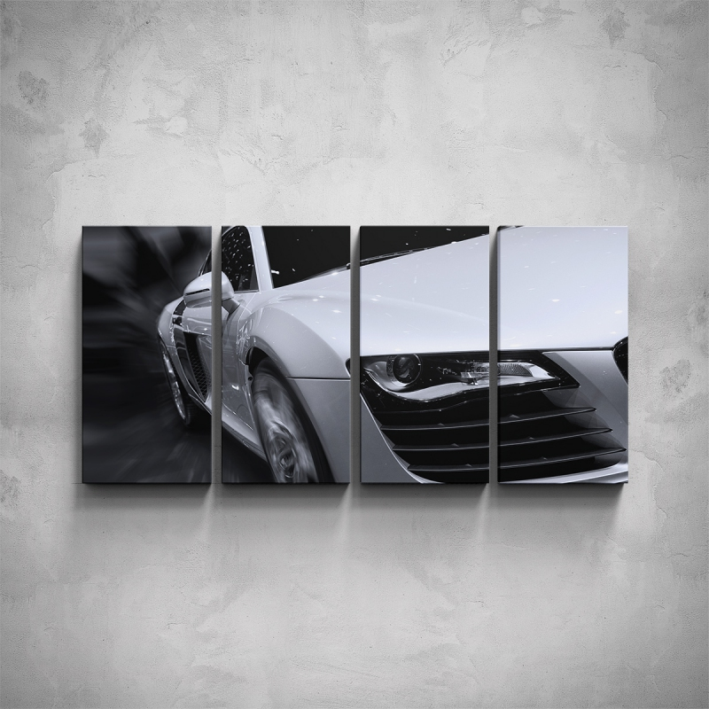 Obrazy - 4-dílný obraz - Audi - detail