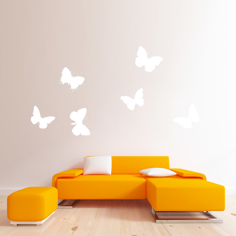 Samolepky na zeď - Samolepka na zeď - Motýlci Set