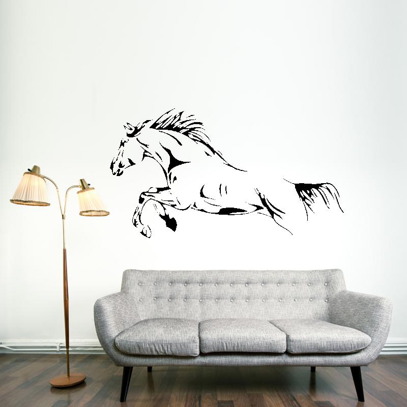 Samolepky na zeď - Samolepka na zeď - Skákající kůň