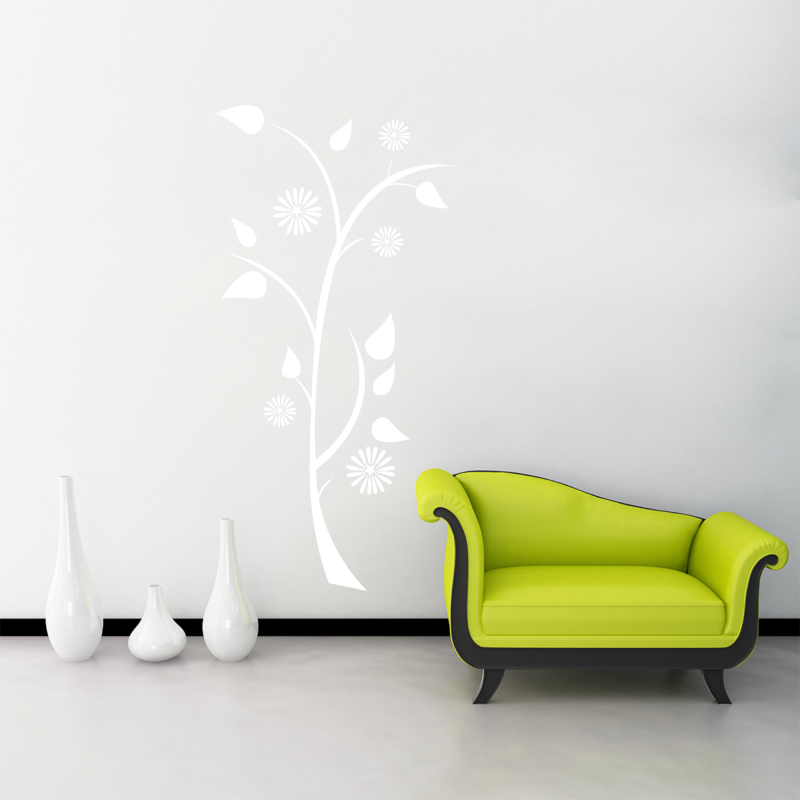 Samolepky na zeď - Samolepka na zeď - Květina