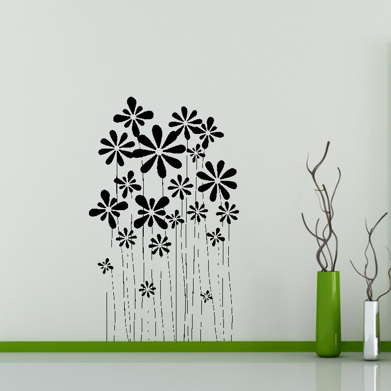 Samolepky na zeď - Samolepka na zeď - Pnoucí květiny