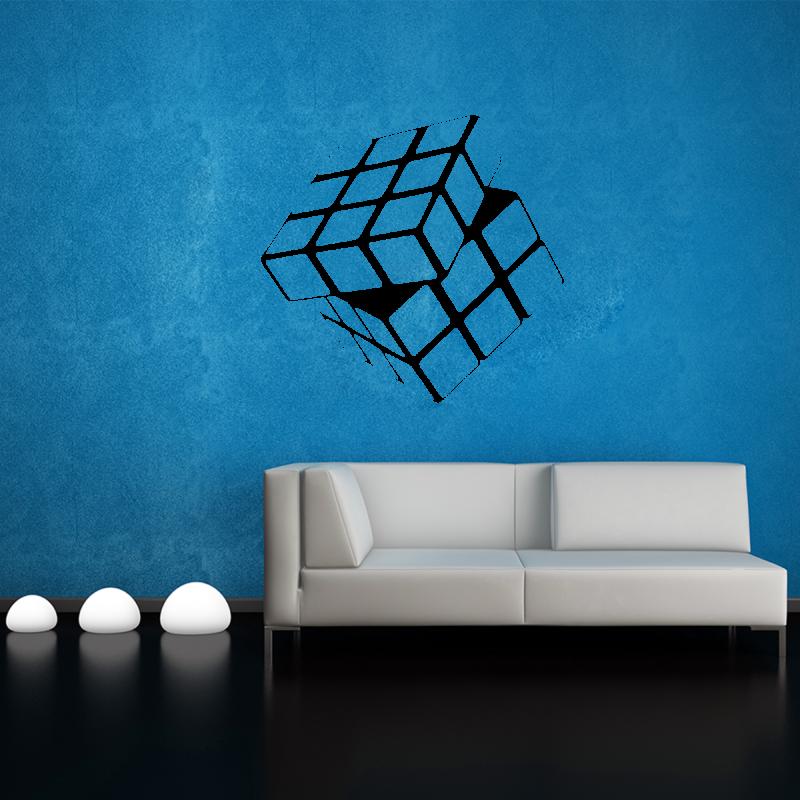 Samolepky na zeď - Samolepka na zeď - Rubikova Kostka