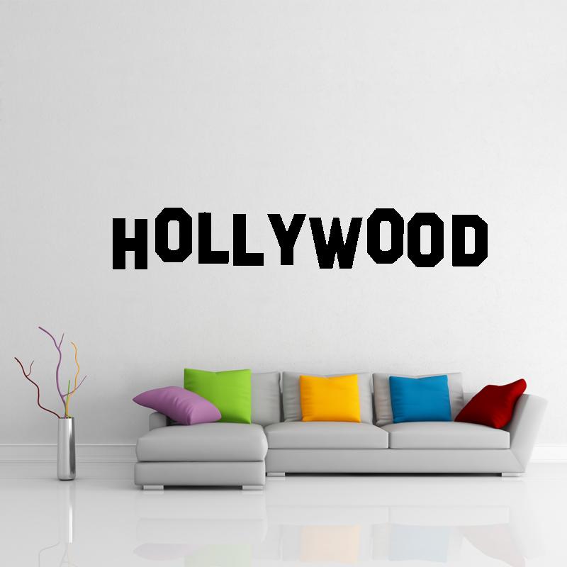 Samolepky na zeď - Samolepka na zeď - Hollywood nápis