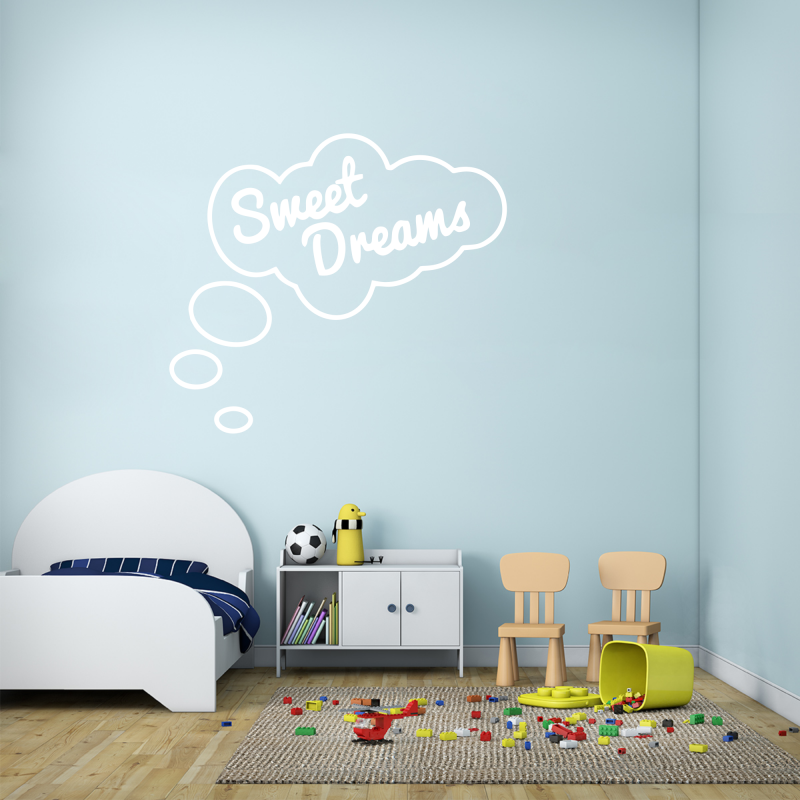 Samolepky na zeď - Samolepka na zeď - Sweet dreams nápis