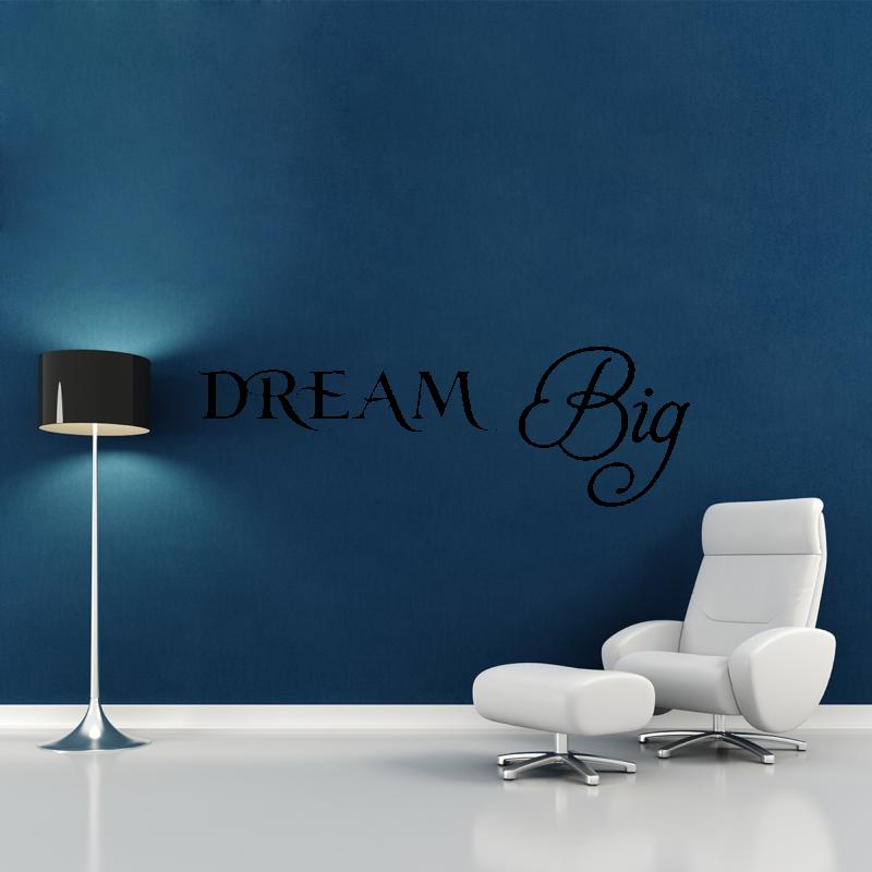 Samolepky na zeď - Samolepka na zeď - Dream Big nápis
