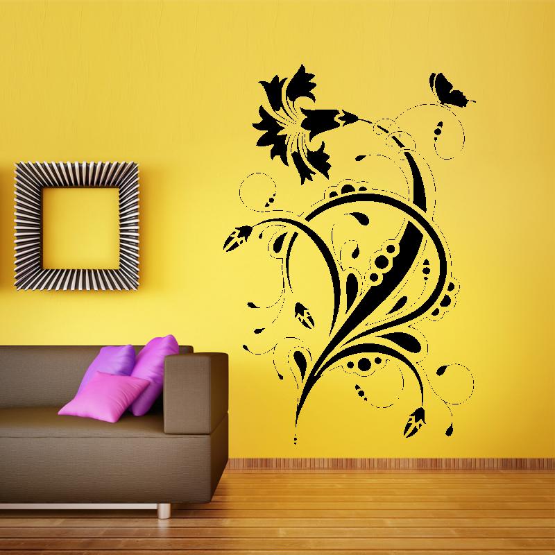 Samolepky na zeď - Samolepka na zeď - Květinový ornament 3
