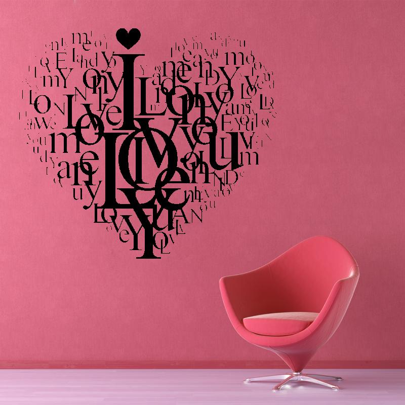 Samolepky na zeď - Samolepka na zeď - Love srdce