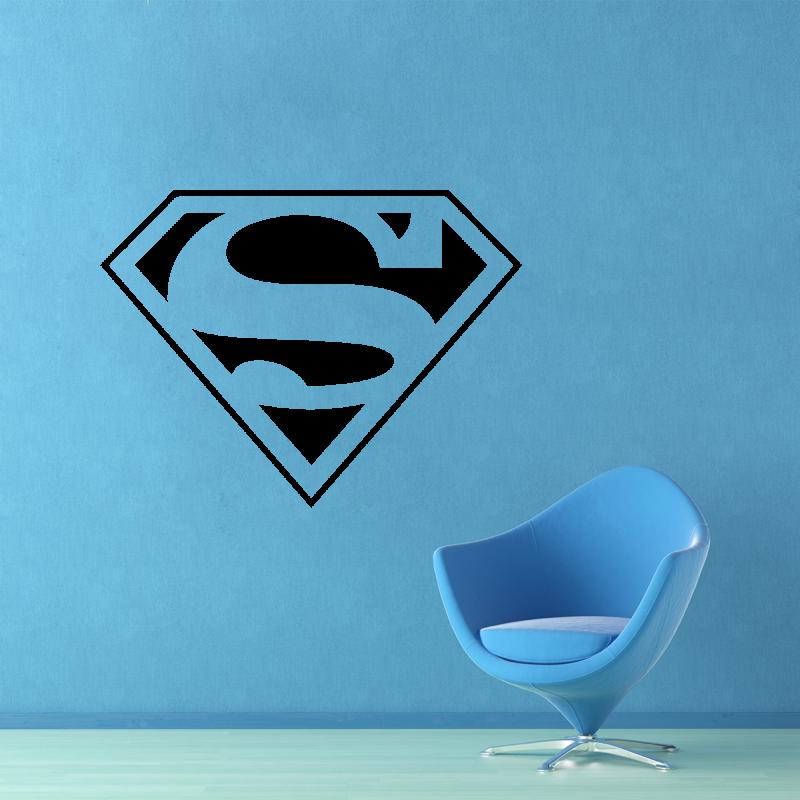 Samolepky na zeď - Samolepka na zeď - Superman znak