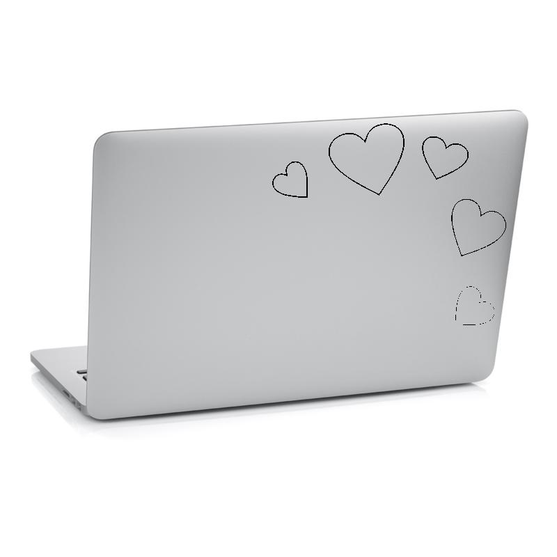 Samolepky na notebook - Samolepka na notebook - Srdce set