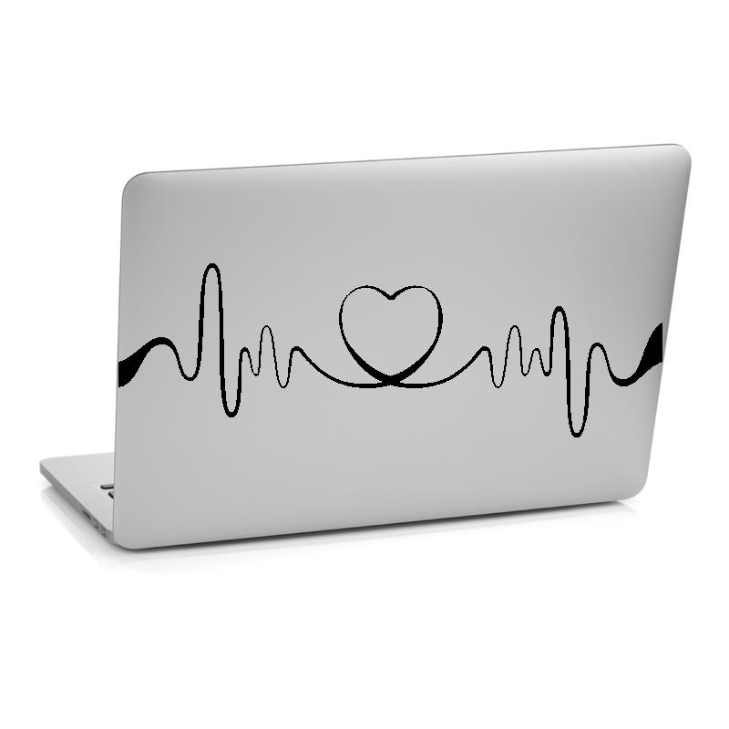 Samolepky na notebook - Samolepka na notebook - Srdeční tep