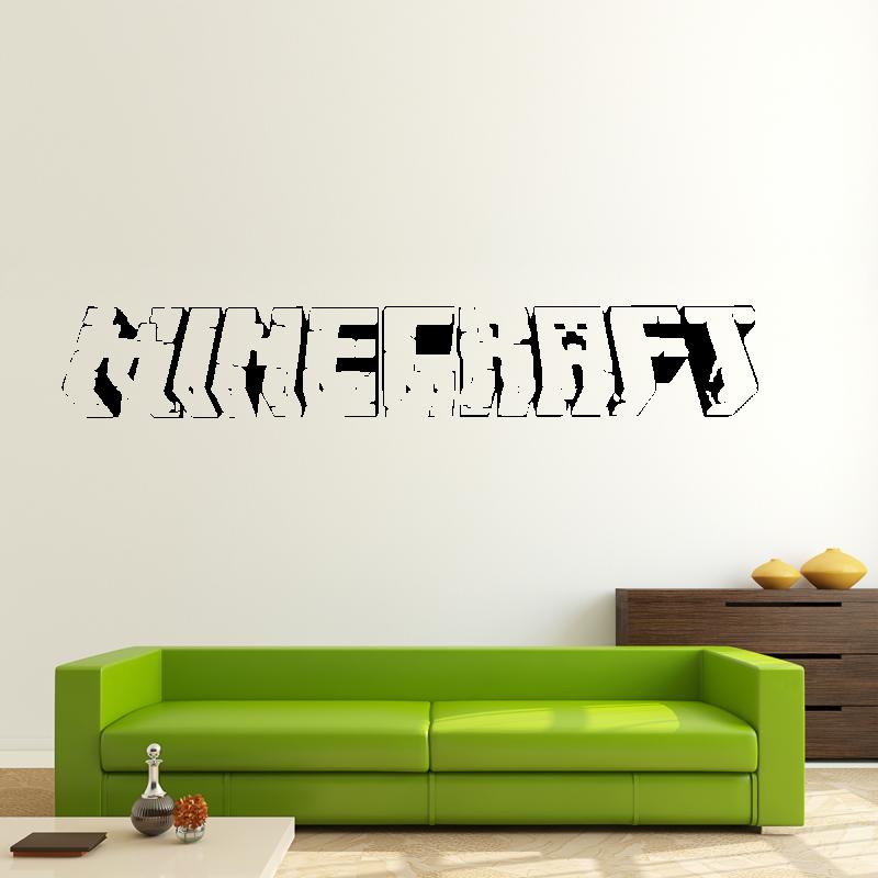 Samolepky na zeď - Samolepka na zeď - Minecraft nápis