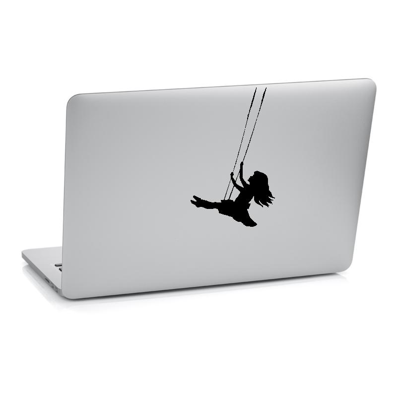 Samolepky na notebook - Samolepka na notebook - Holčička na houpačce
