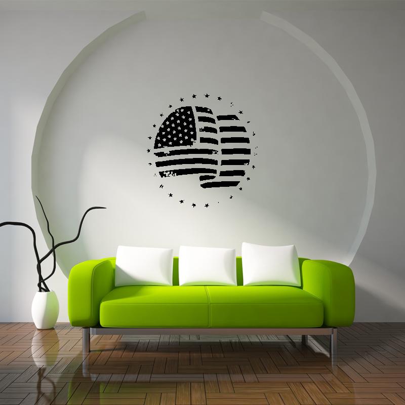 Samolepky na zeď - Samolepka na zeď - Americká vlajka