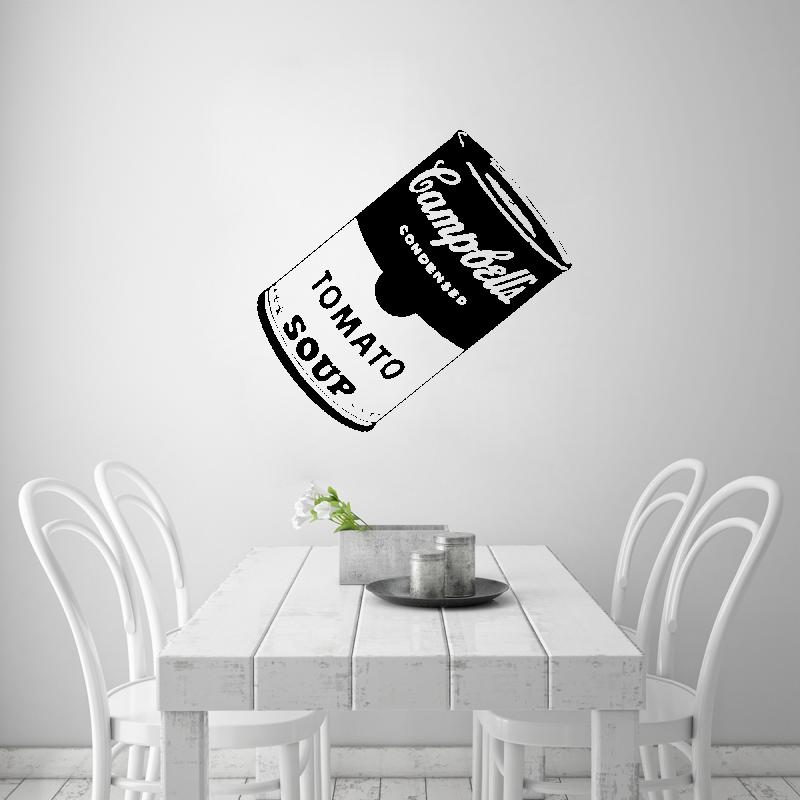 Samolepky na zeď - Samolepka na zeď - Plechovka Andy Warhol Tomato