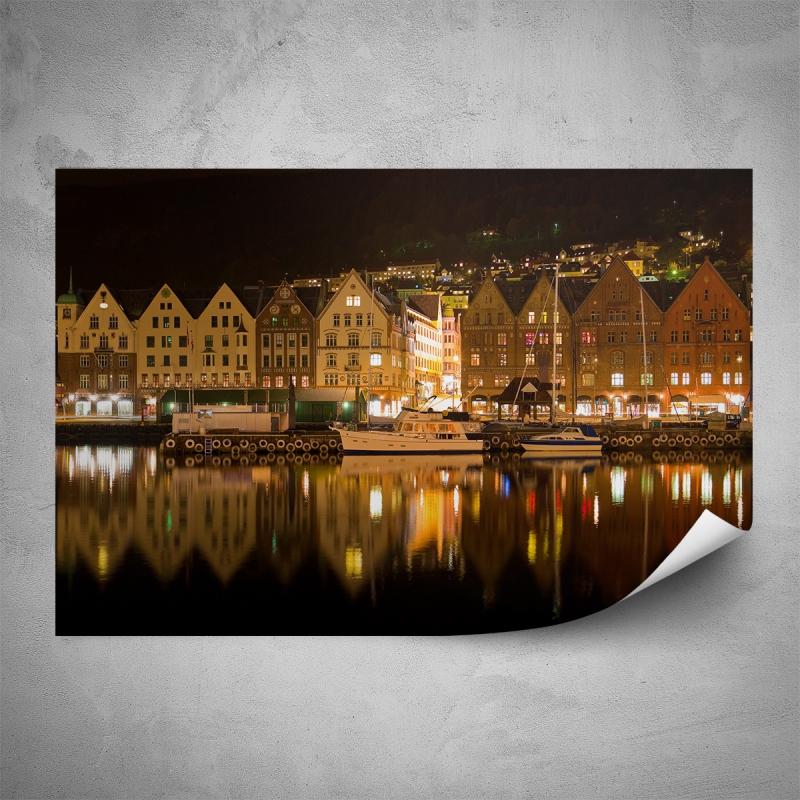 Plakáty - Plakát - Noční Bergen