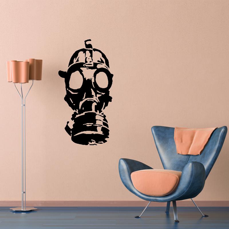 Samolepky na zeď - Samolepka na zeď - Plynová maska