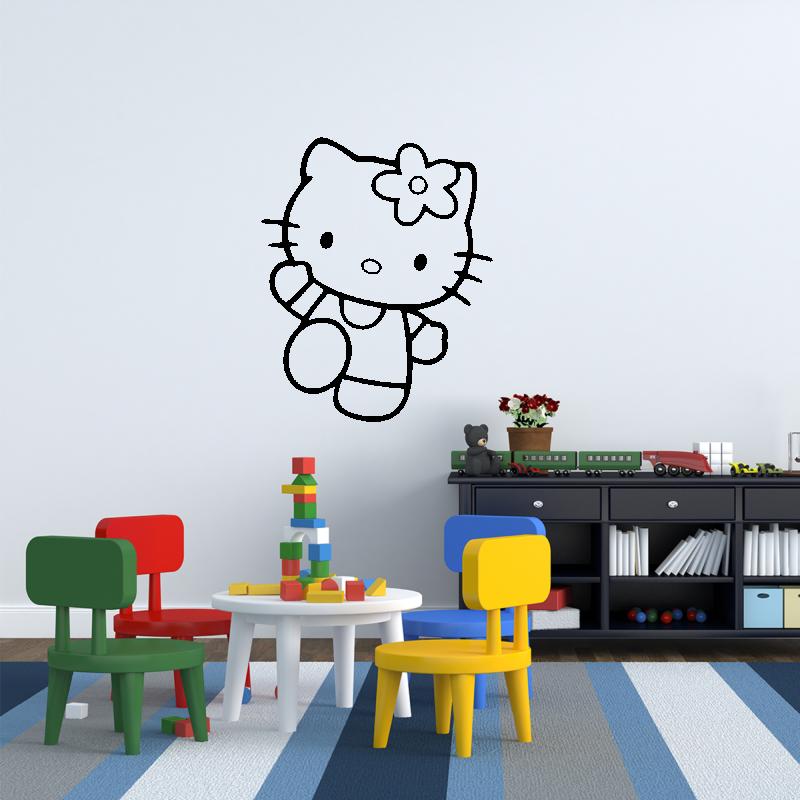 Samolepky na zeď - Samolepka na zeď - Hello Kitty 3