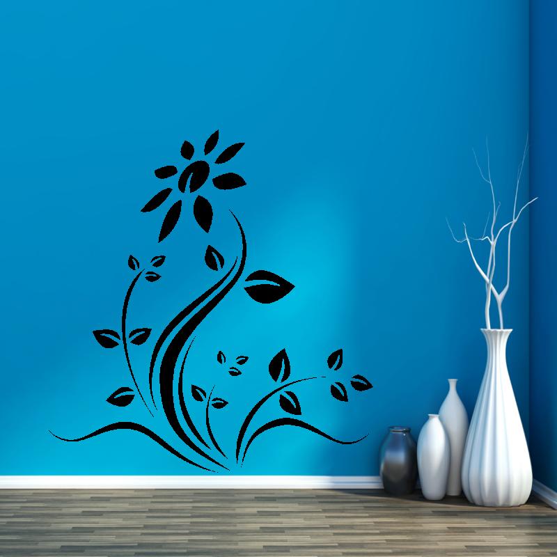Samolepky na zeď - Samolepka na zeď - Rozkvetlá květina