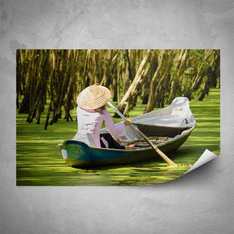 Plakáty - Plakát - Žena na loďce