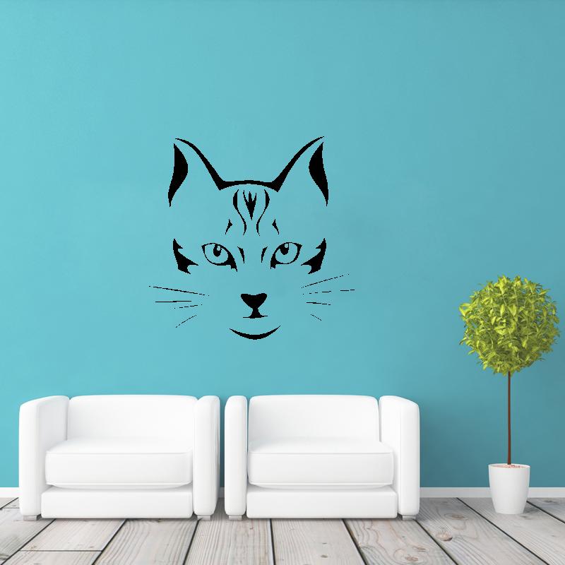 Samolepky na zeď - Samolepka na zeď - Kočičí tvář
