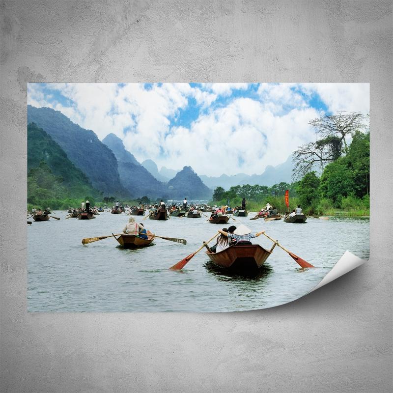 Plakáty - Plakát - Lodě na řece