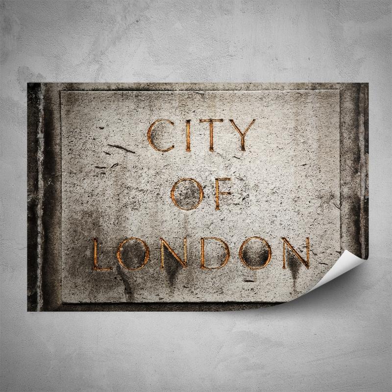 Plakáty - Plakát - Nápis City Of London