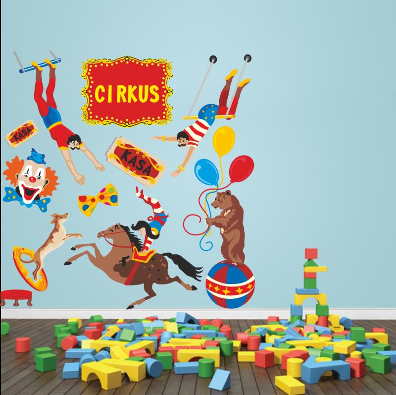 Samolepky na zeď - Barevná samolepka na zeď - Cirkus