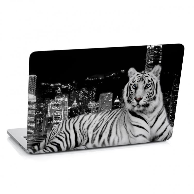 Samolepky na notebook - Samolepka na notebook - Černobílý tygr
