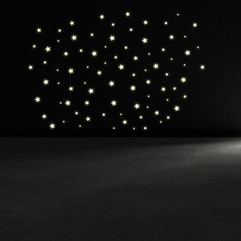Samolepky na zeď - Svíticí samolepka na zeď - Hvězdy