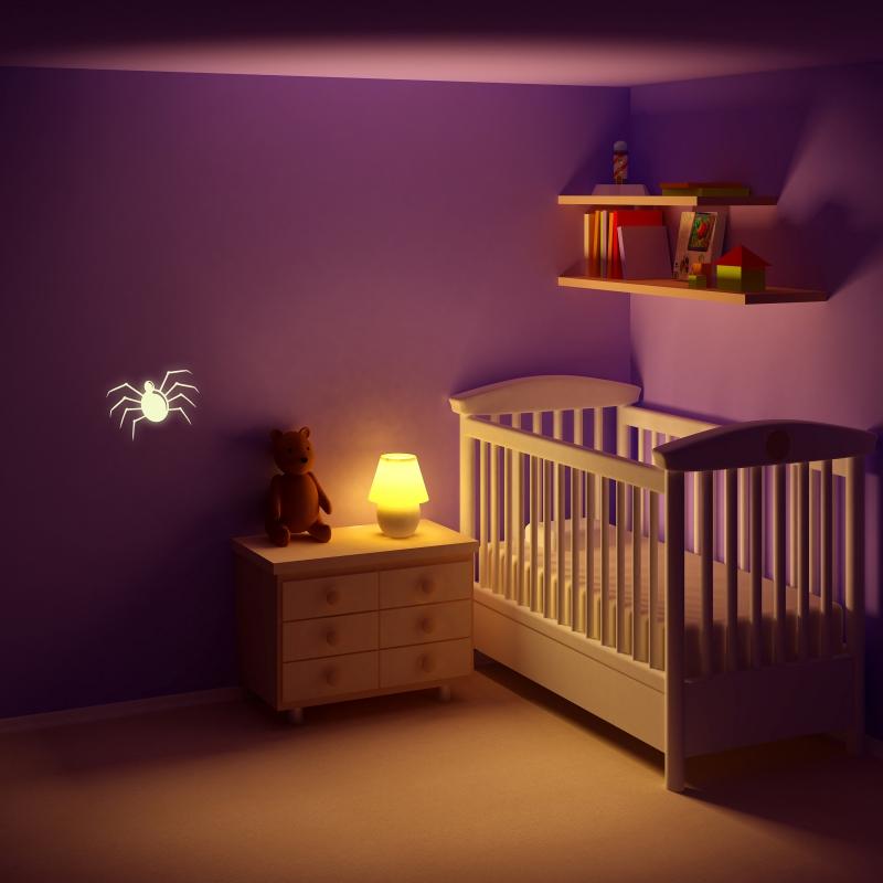 Samolepky na zeď - Svíticí samolepka na zeď - Pavouk