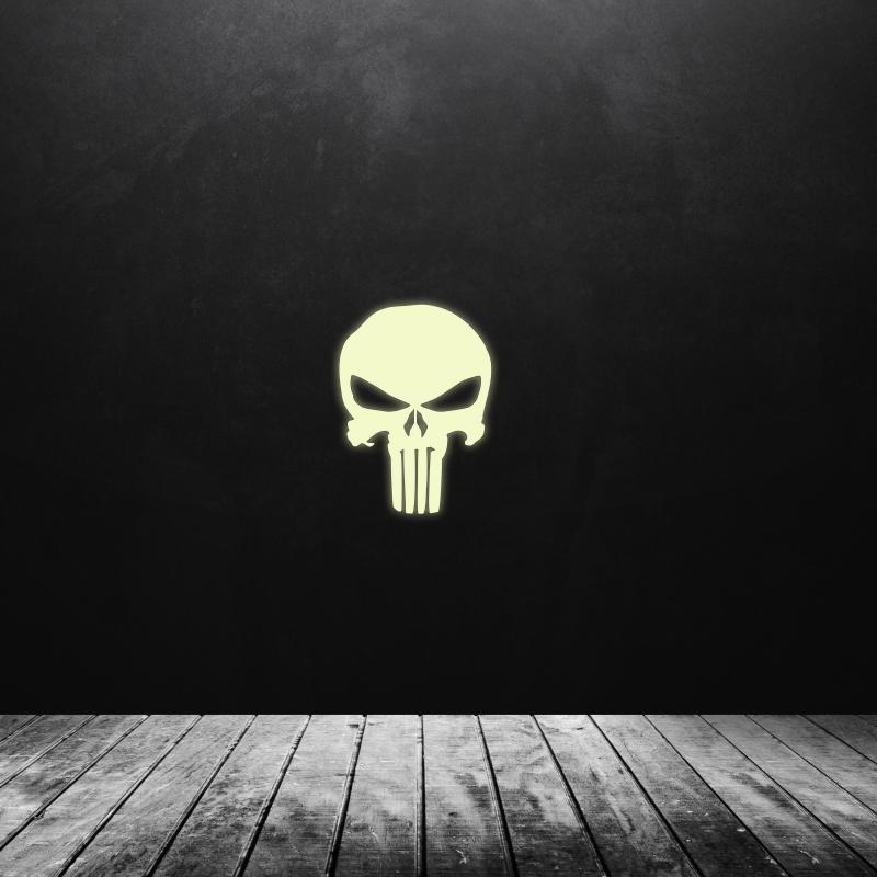 Samolepky na zeď - Svíticí samolepka na zeď - Punisher