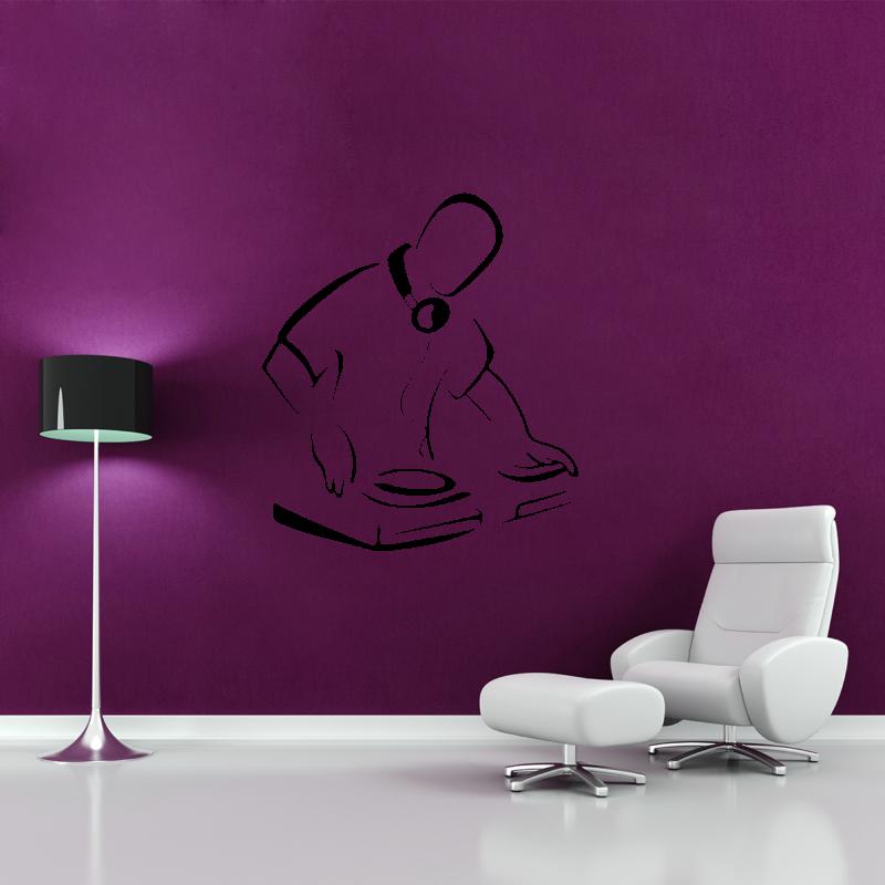 Samolepky na zeď - Samolepka na zeď - DJ