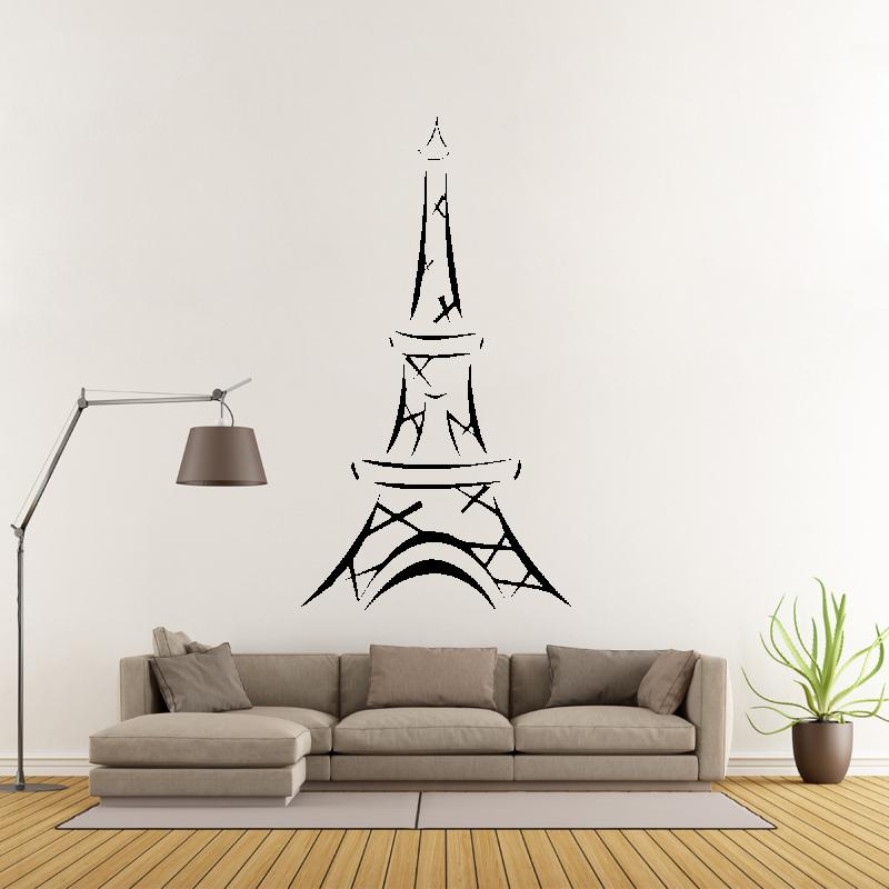Samolepky na zeď - Samolepka na zeď - Eiffelova věž