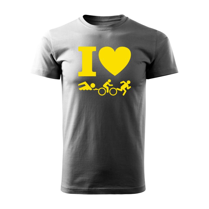 Trička s potiskem - Tričko s potiskem - I love triatlon