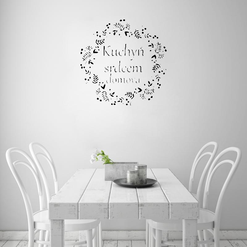 Samolepky na zeď - Samolepka na zeď - Nápis kuchyň je srdcem domova