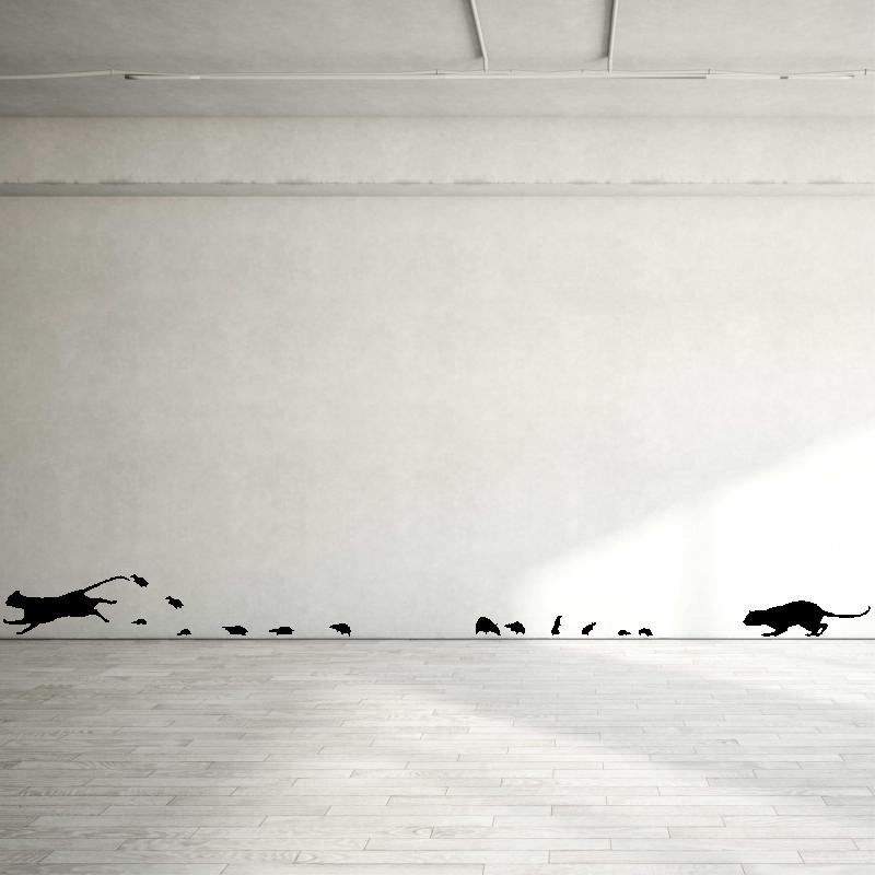 Samolepky na zeď - Samolepka na zeď - Kočky a myšky set