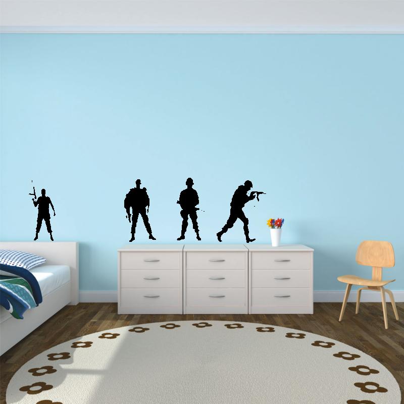 Samolepky na zeď - Samolepka na zeď - Vojáci set
