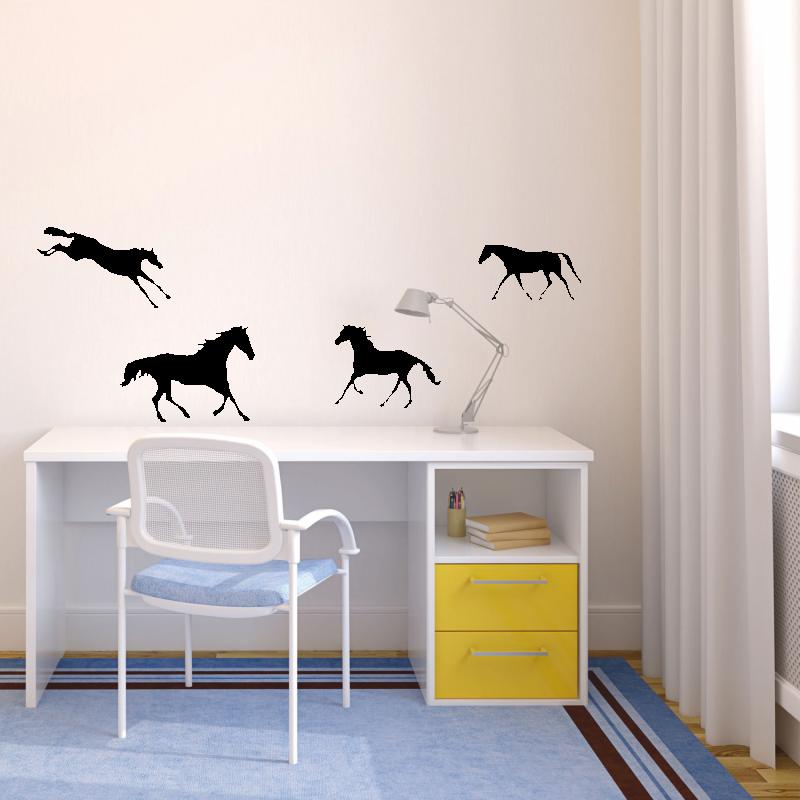 Samolepky na zeď - Samolepka na zeď - Koně set